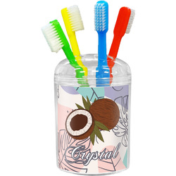 Coconut and Leaves Toothbrush Holder (Personalized)