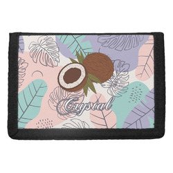 Coconut and Leaves Trifold Wallet w/ Name or Text