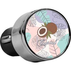 Coconut and Leaves USB Car Charger (Personalized)