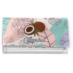 Coconut and Leaves Vinyl Checkbook Cover w/ Name or Text