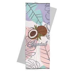 Coconut and Leaves Yoga Mat Towel w/ Name or Text