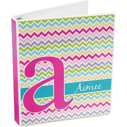 Colorful Chevron 3-Ring Binder (Personalized)