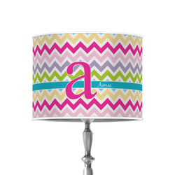 """Colorful Chevron 8"""" Drum Lamp Shade - Poly-film (Personalized)"""