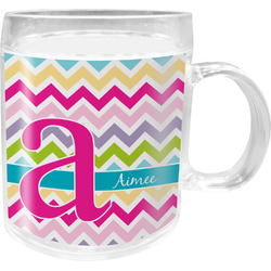 Colorful Chevron Acrylic Kids Mug (Personalized)