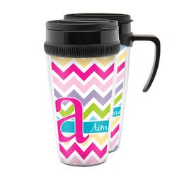 Colorful Chevron Acrylic Travel Mugs (Personalized)