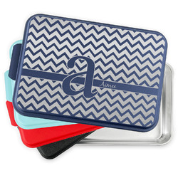 Colorful Chevron Aluminum Baking Pan with Lid (Personalized)