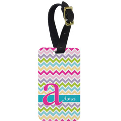 Colorful Chevron Aluminum Luggage Tag (Personalized)