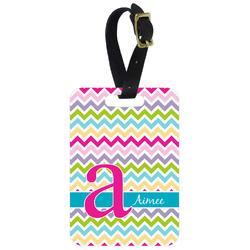 Colorful Chevron Aluminum Luggage Tag (Personalized)