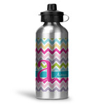 Colorful Chevron Water Bottle - Aluminum - 20 oz (Personalized)