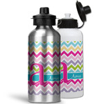 Colorful Chevron Water Bottles- Aluminum (Personalized)