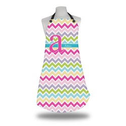 Colorful Chevron Apron w/ Name and Initial