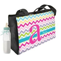Colorful Chevron Diaper Bag (Personalized)
