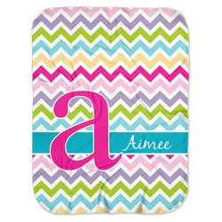 Colorful Chevron Baby Swaddling Blanket (Personalized)