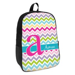 Colorful Chevron Kids Backpack (Personalized)
