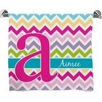 Colorful Chevron Full Print Bath Towel (Personalized)