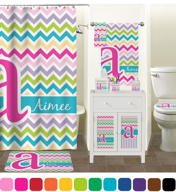 Colorful Chevron Finger Tip Towel Full Print