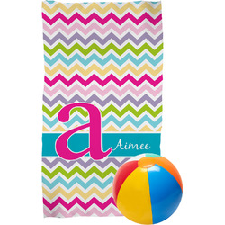 Colorful Chevron Beach Towel (Personalized)