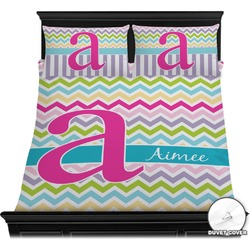 Colorful Chevron Duvet Cover Set (Personalized)