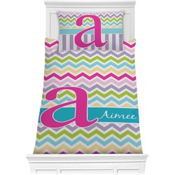 Colorful Chevron Comforter Set - Twin (Personalized)