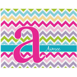 Colorful Chevron Placemat (Fabric) (Personalized)