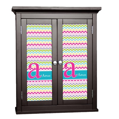 Colorful Chevron Cabinet Decal - Medium (Personalized)