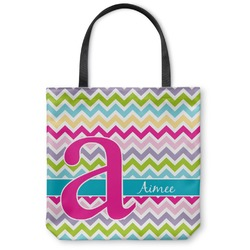 "Colorful Chevron Canvas Tote Bag - Small - 13""x13"" (Personalized)"