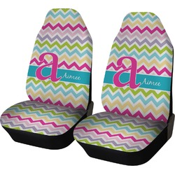 Colorful Chevron Car Seat Covers (Set of Two) (Personalized)