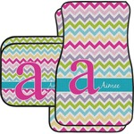 Colorful Chevron Car Floor Mats (Personalized)