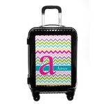 Colorful Chevron Carry On Hard Shell Suitcase (Personalized)