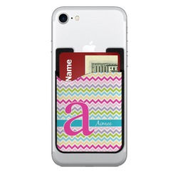 Colorful Chevron Cell Phone Credit Card Holder (Personalized)