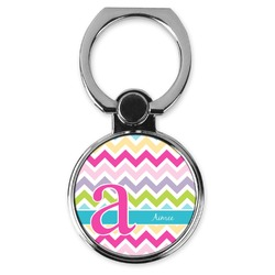Colorful Chevron Cell Phone Ring Stand & Holder (Personalized)