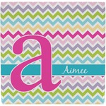 Colorful Chevron Ceramic Tile Hot Pad (Personalized)