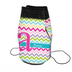 Colorful Chevron Neoprene Drawstring Backpack (Personalized)
