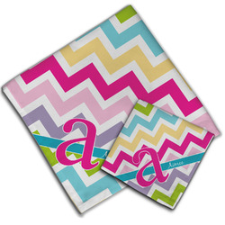 Colorful Chevron Cloth Napkin w/ Name and Initial