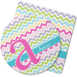 Colorful Chevron Rubber Backed Coaster (Personalized)