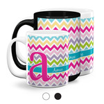 Colorful Chevron Coffee Mugs (Personalized)