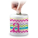 Colorful Chevron Coin Bank (Personalized)