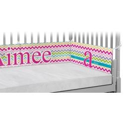 Colorful Chevron Crib Bumper Pads (Personalized)