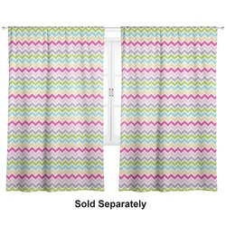"Colorful Chevron Curtains - 20""x54"" Panels - Lined (2 Panels Per Set) (Personalized)"