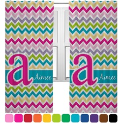 Colorful Chevron Curtains (2 Panels Per Set) (Personalized)