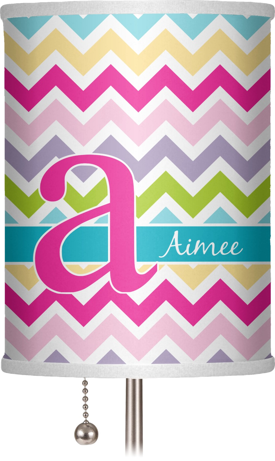 Colorful Chevron Drum Lamp Shade Polyester Personalized