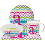 Colorful Chevron Dinner Set - 4 Pc (Personalized)