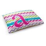 Colorful Chevron Dog Bed (Personalized)