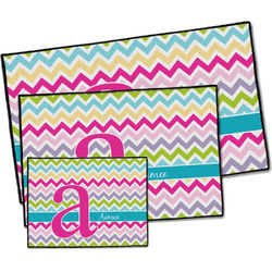 Colorful Chevron Door Mat (Personalized)