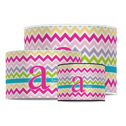 Colorful Chevron Drum Lamp Shade (Personalized)