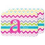 Colorful Chevron Dish Drying Mat w/ Name and Initial