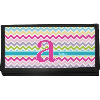 Colorful Chevron Canvas Checkbook Cover (Personalized)
