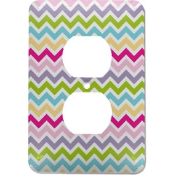Colorful Chevron Electric Outlet Plate (Personalized)