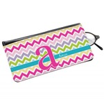 Colorful Chevron Genuine Leather Eyeglass Case (Personalized)