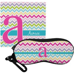 Colorful Chevron Eyeglass Case & Cloth (Personalized)